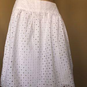 Talbots white skirt , size 6